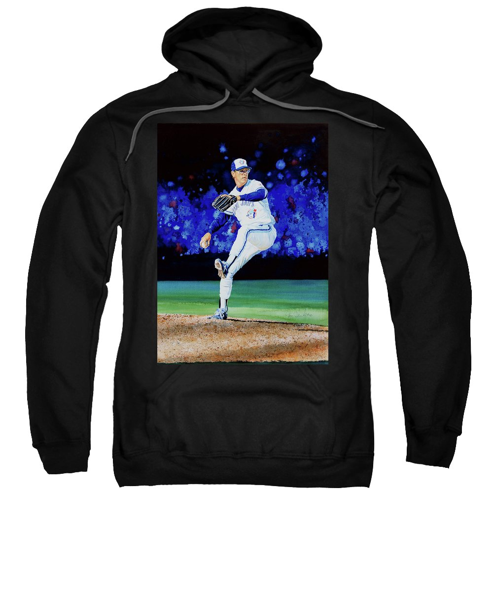 Sports Sweatshirt featuring the painting The Terminator by Hanne Lore Koehler