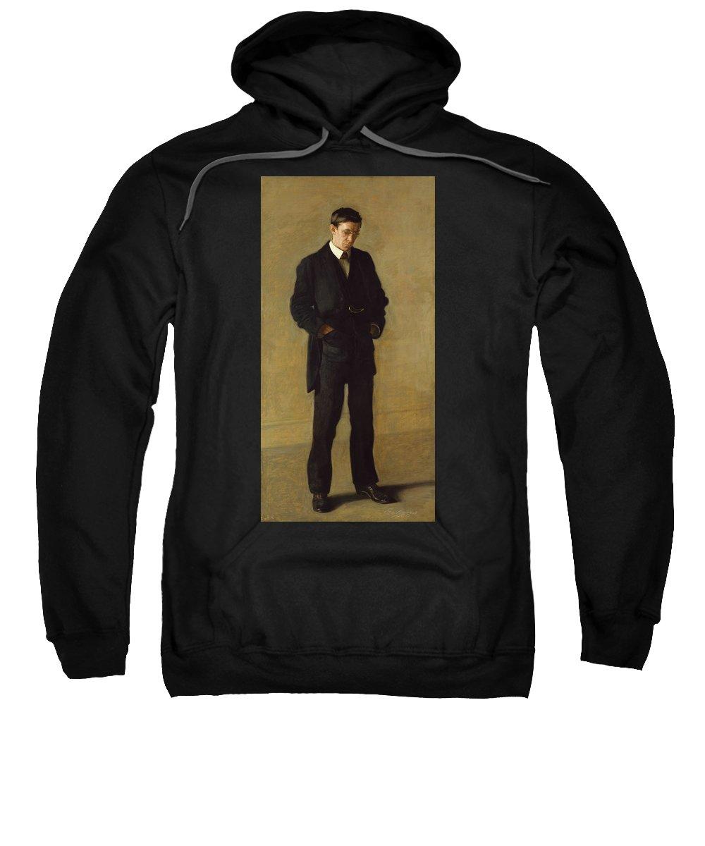America Sweatshirt featuring the painting The Thinker, Portrait Of Louis Kenton by Thomas Eakins
