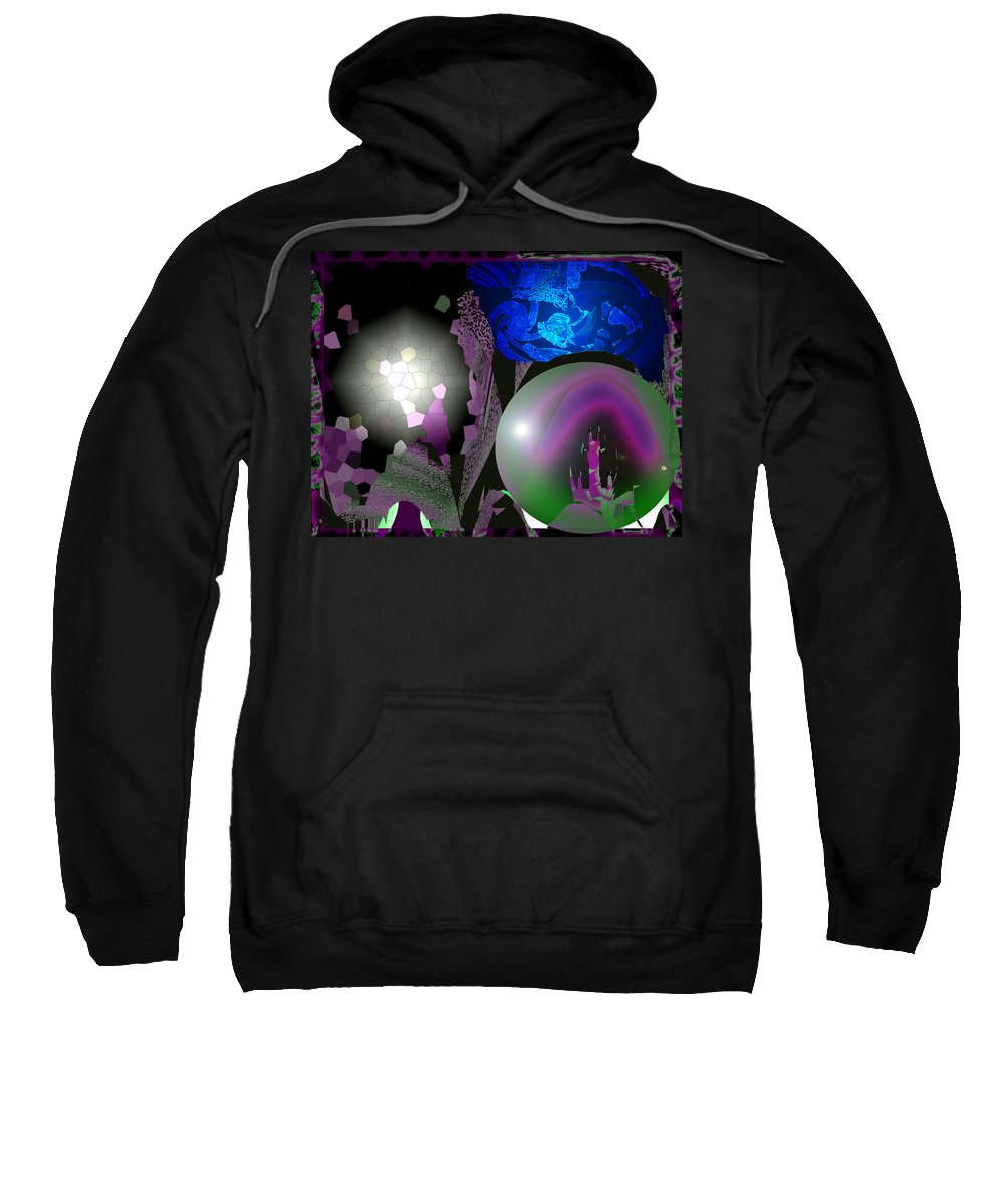 Three Sweatshirt featuring the digital art The Three by XERXEESE Color Schemes