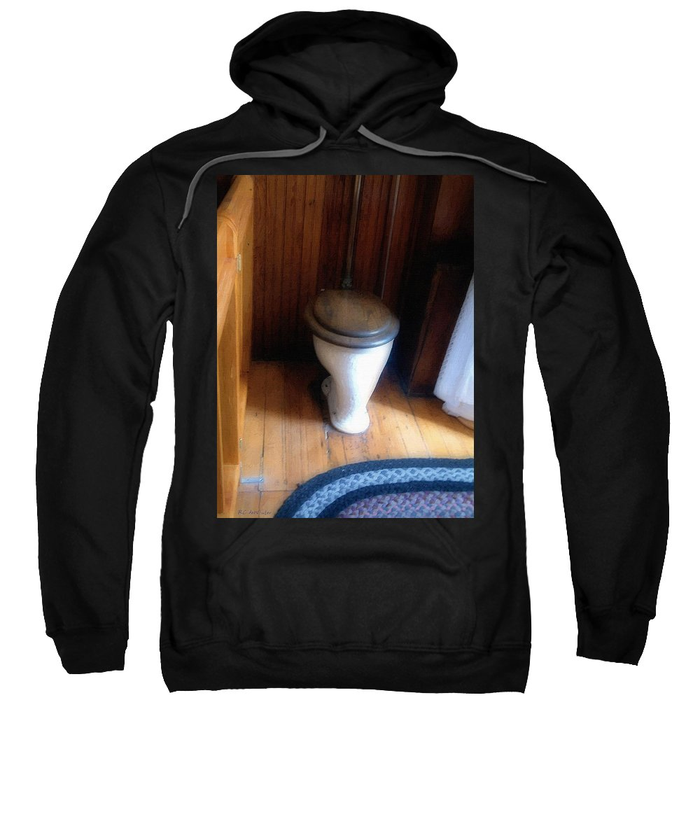 Antique Sweatshirt featuring the painting The Throne Room by RC DeWinter