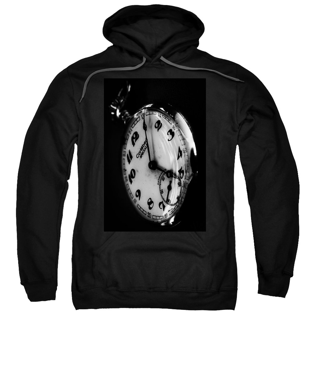 Machine Sweatshirt featuring the photograph The Time by Edgar Laureano