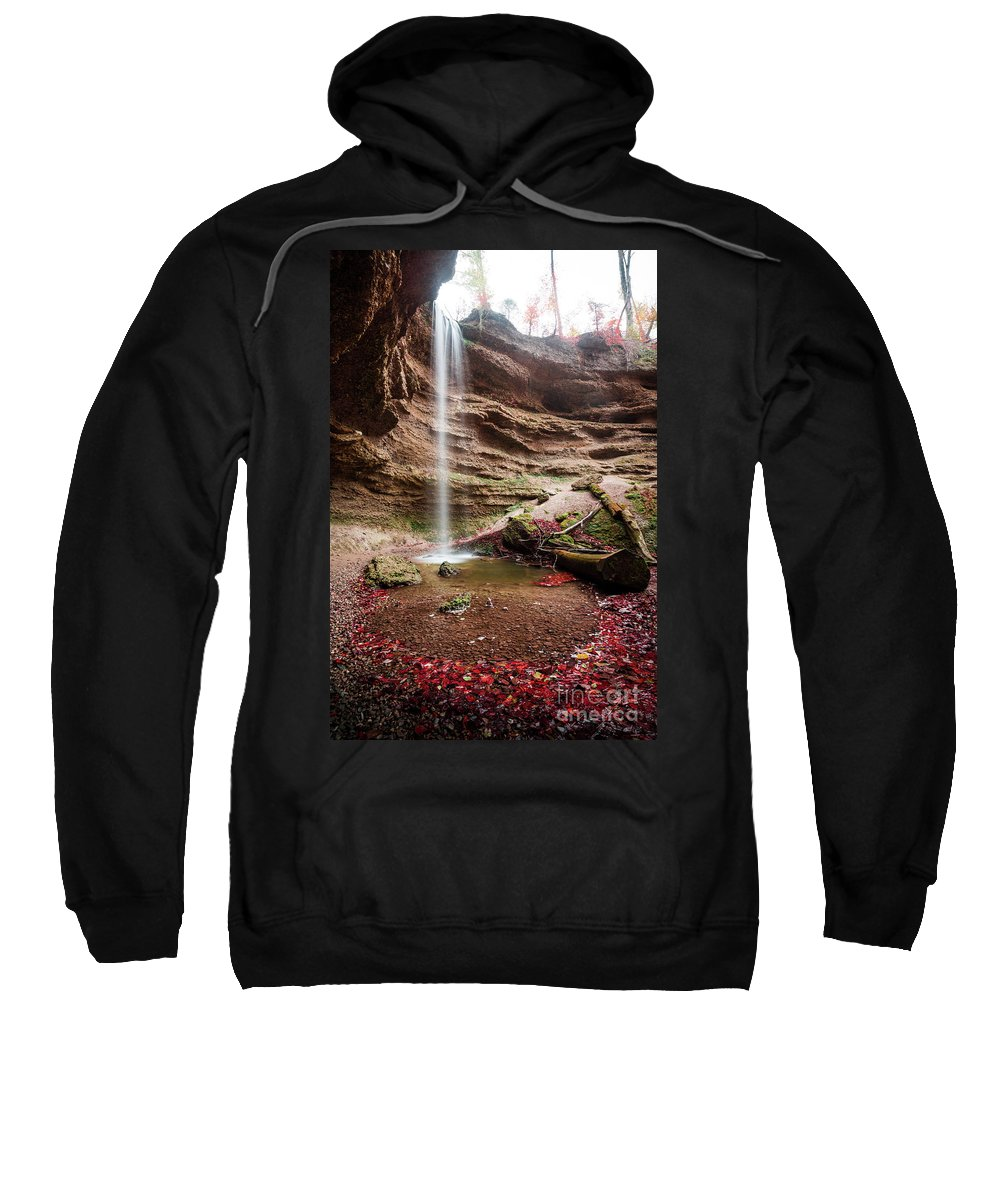 Autumn Sweatshirt featuring the photograph The Tiny Waterfall by Hannes Cmarits
