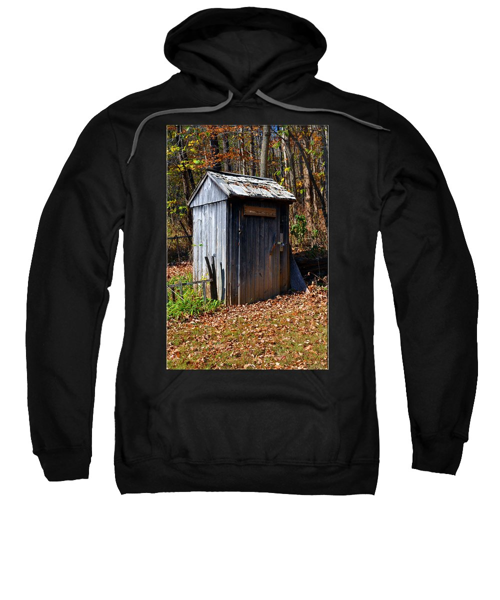 Tool Shed Sweatshirt featuring the photograph The Tool Shed by Brittany Horton