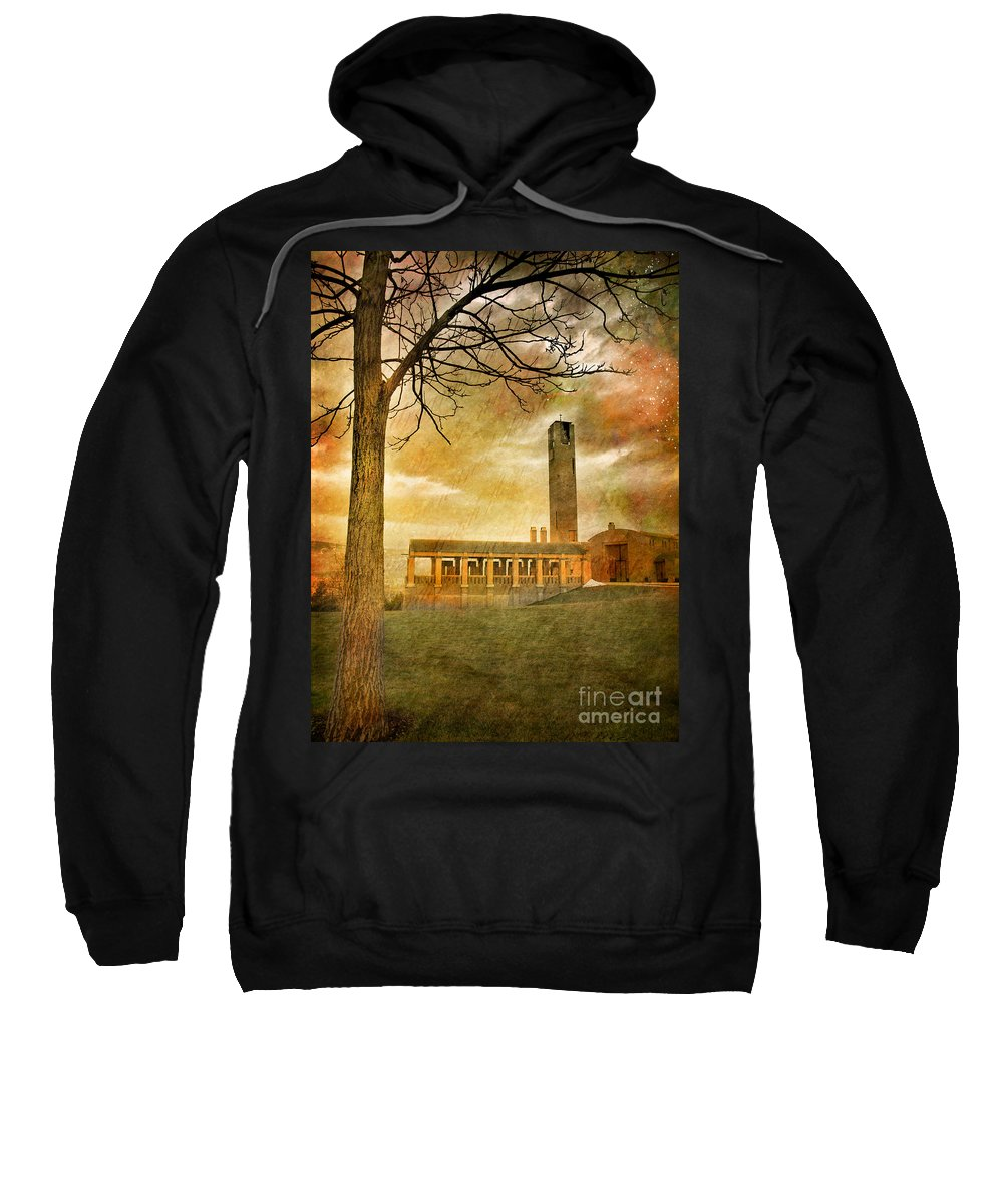 Building Sweatshirt featuring the photograph The Tree And The Bell Tower by Tara Turner