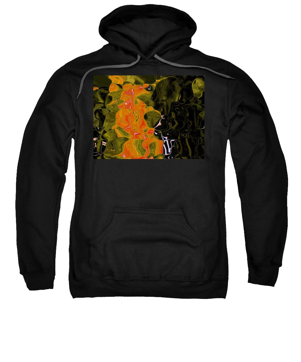 Abstract Sweatshirt featuring the digital art The Trellis by Lenore Senior