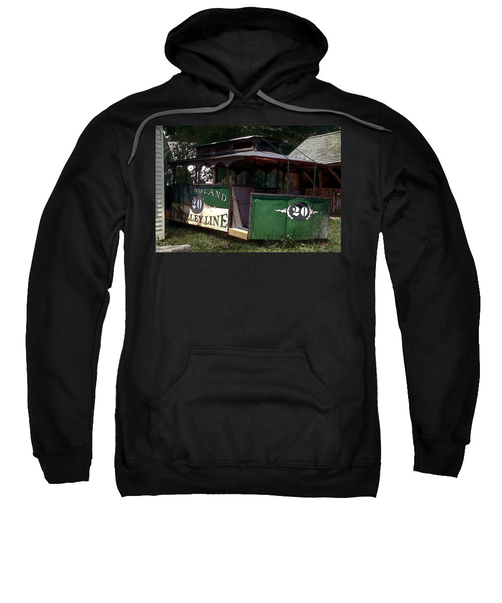 Trolley Sweatshirt featuring the digital art The Trolley Out Back by RC DeWinter