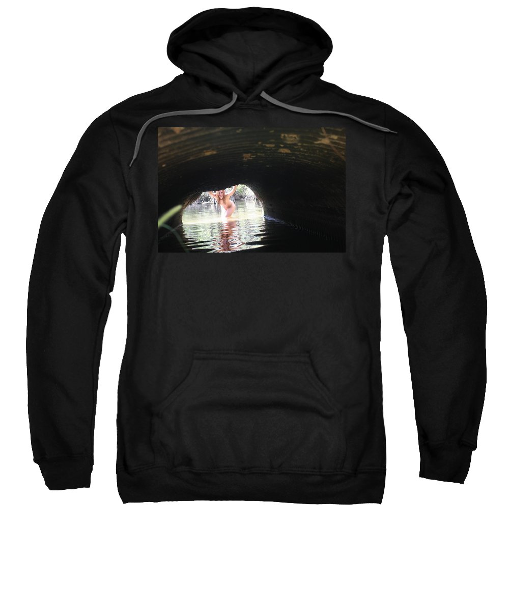 Lucky Cole Everglades Photographer Female Nude Everglades Sweatshirt featuring the photograph The Tunnel 8 by Lucky Cole