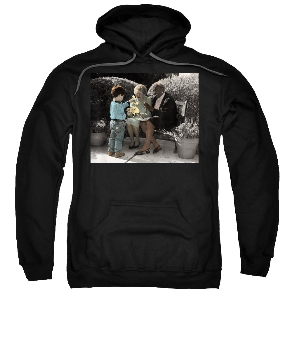 The Twelve Gifts Of Birth Sweatshirt featuring the photograph The Twelve Gifts Of Birth - Beauty 1 by Jill Reger