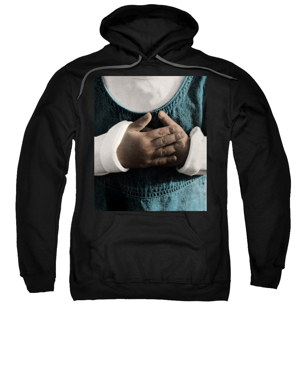 The Twelve Gifts Of Birth Sweatshirt featuring the photograph The Twelve Gifts Of Birth - Compassion 2 by Jill Reger