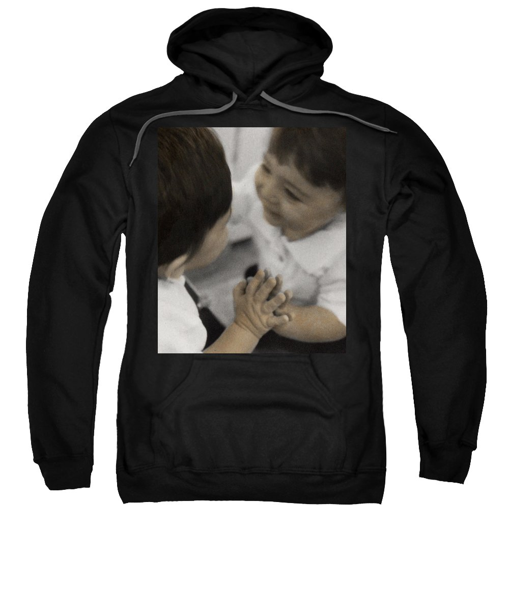 The Twelve Gifts Of Birth Sweatshirt featuring the photograph The Twelve Gifts Of Birth - Reverence 2 by Jill Reger
