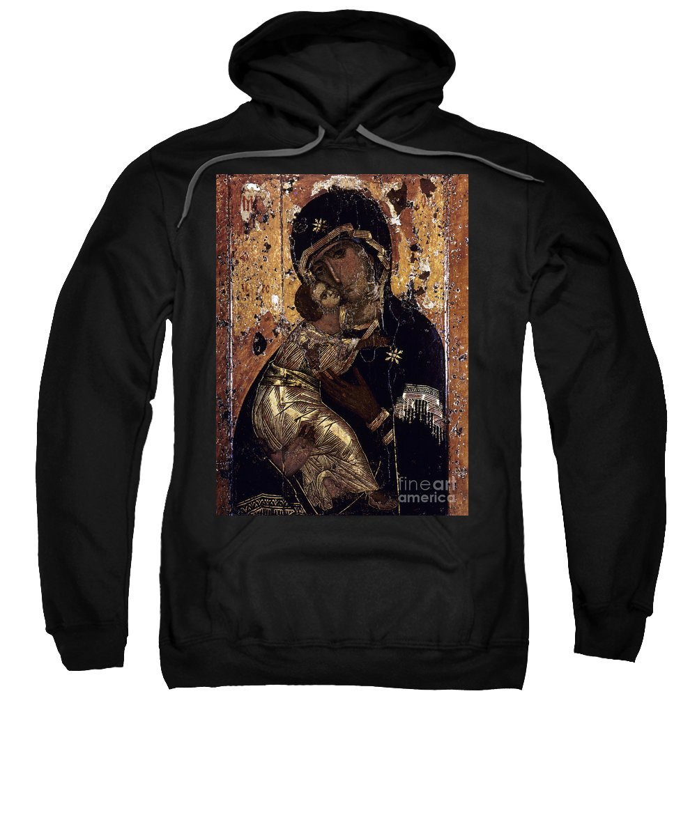 12th Century Sweatshirt featuring the photograph The Virgin Of Vladimir by Granger