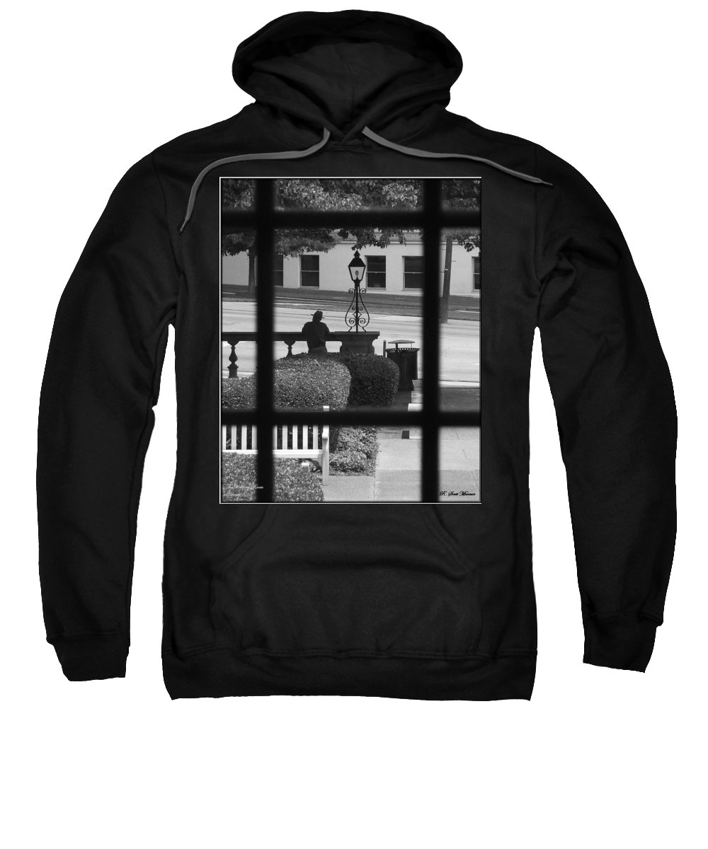 Black And White Sweatshirt featuring the photograph The Waiting Room by Robert Meanor