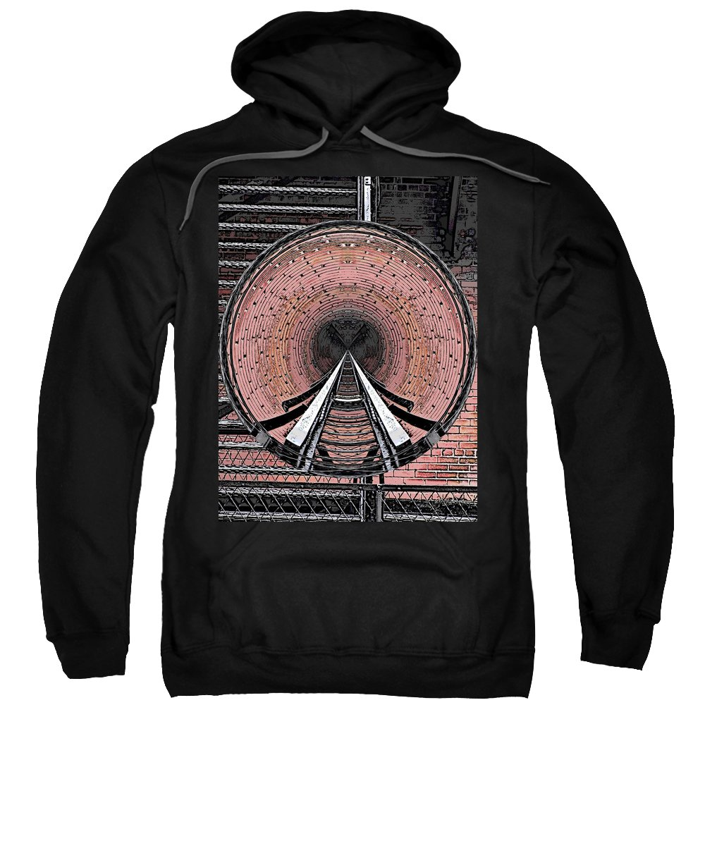 Abstract Sweatshirt featuring the digital art The Well by Tim Allen