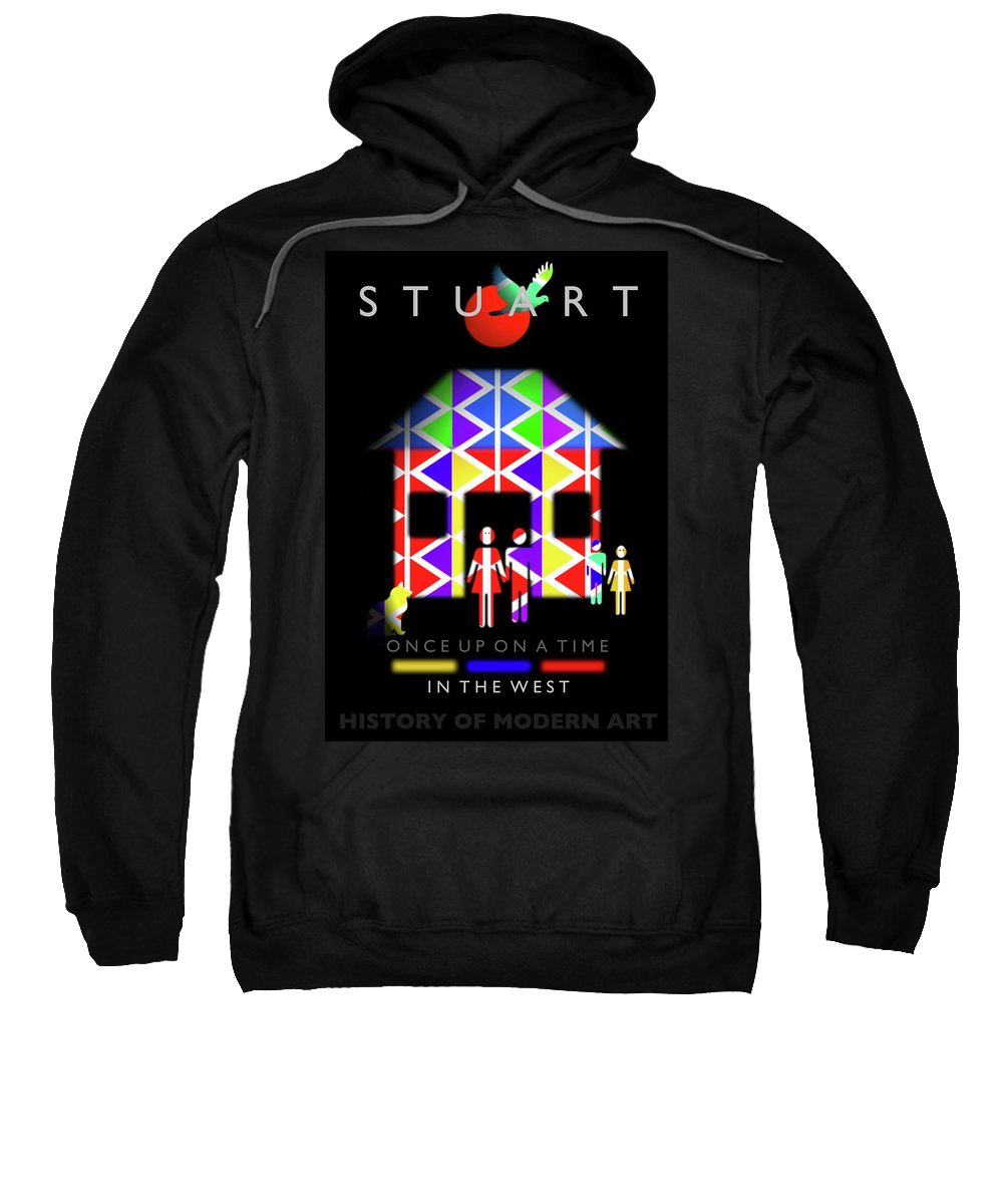 West Sweatshirt featuring the painting The West by Charles Stuart