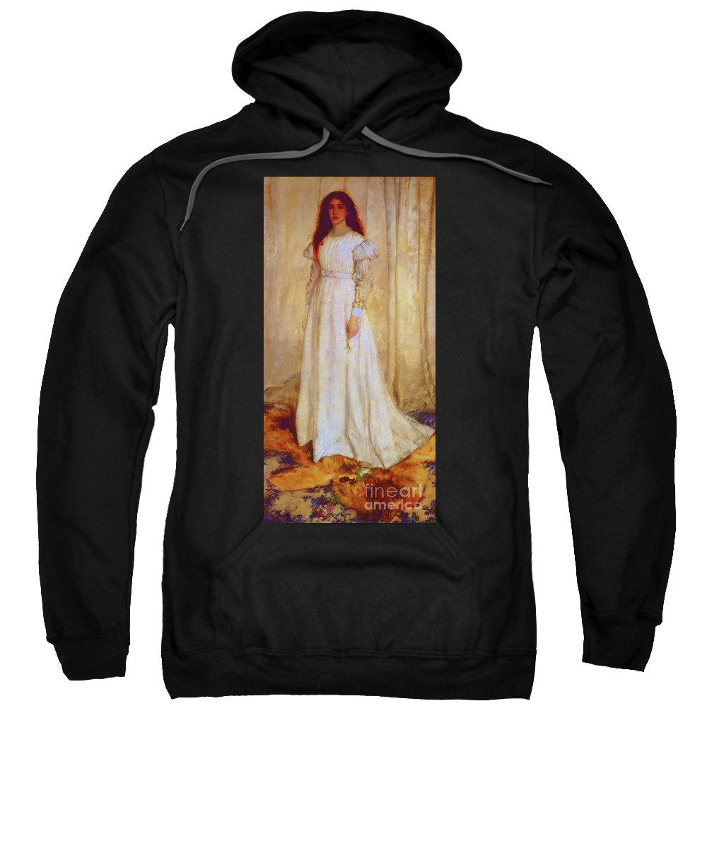 James Abbott Mcneill Sweatshirt featuring the painting The White Girl by D Fessenden