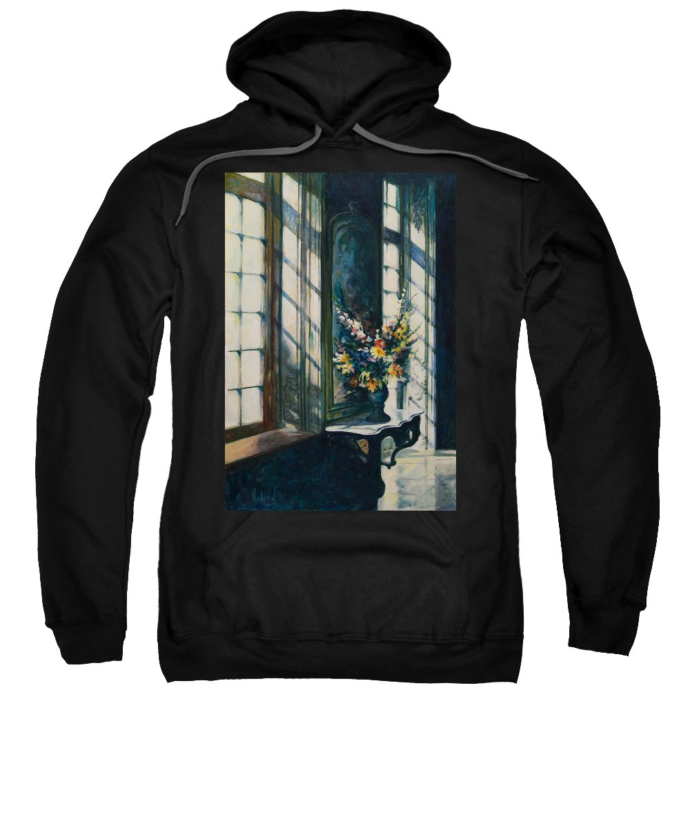 Window Sweatshirt featuring the painting The Window by Rick Nederlof