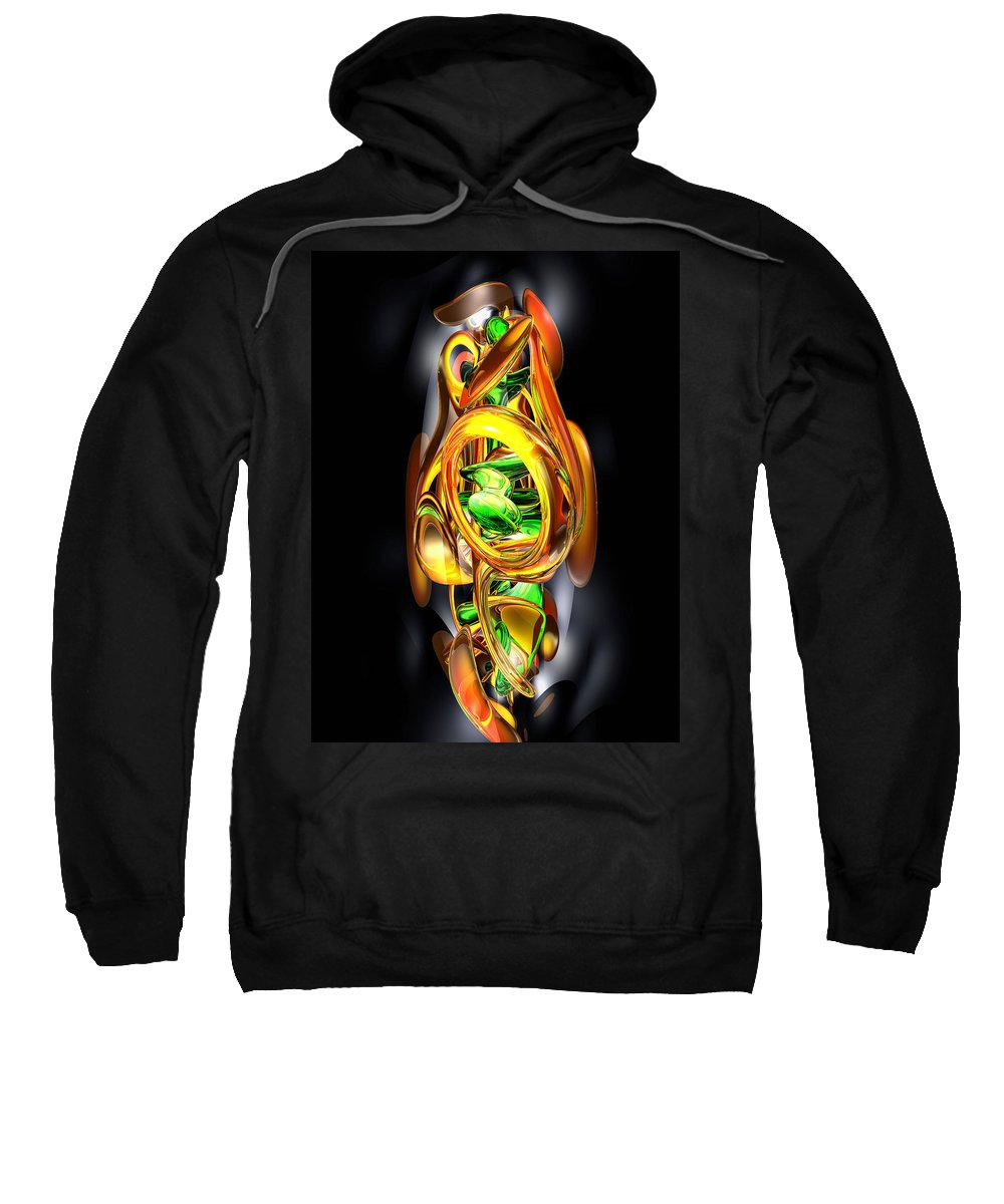 3d Sweatshirt featuring the digital art The Wraith Abstract by Alexander Butler