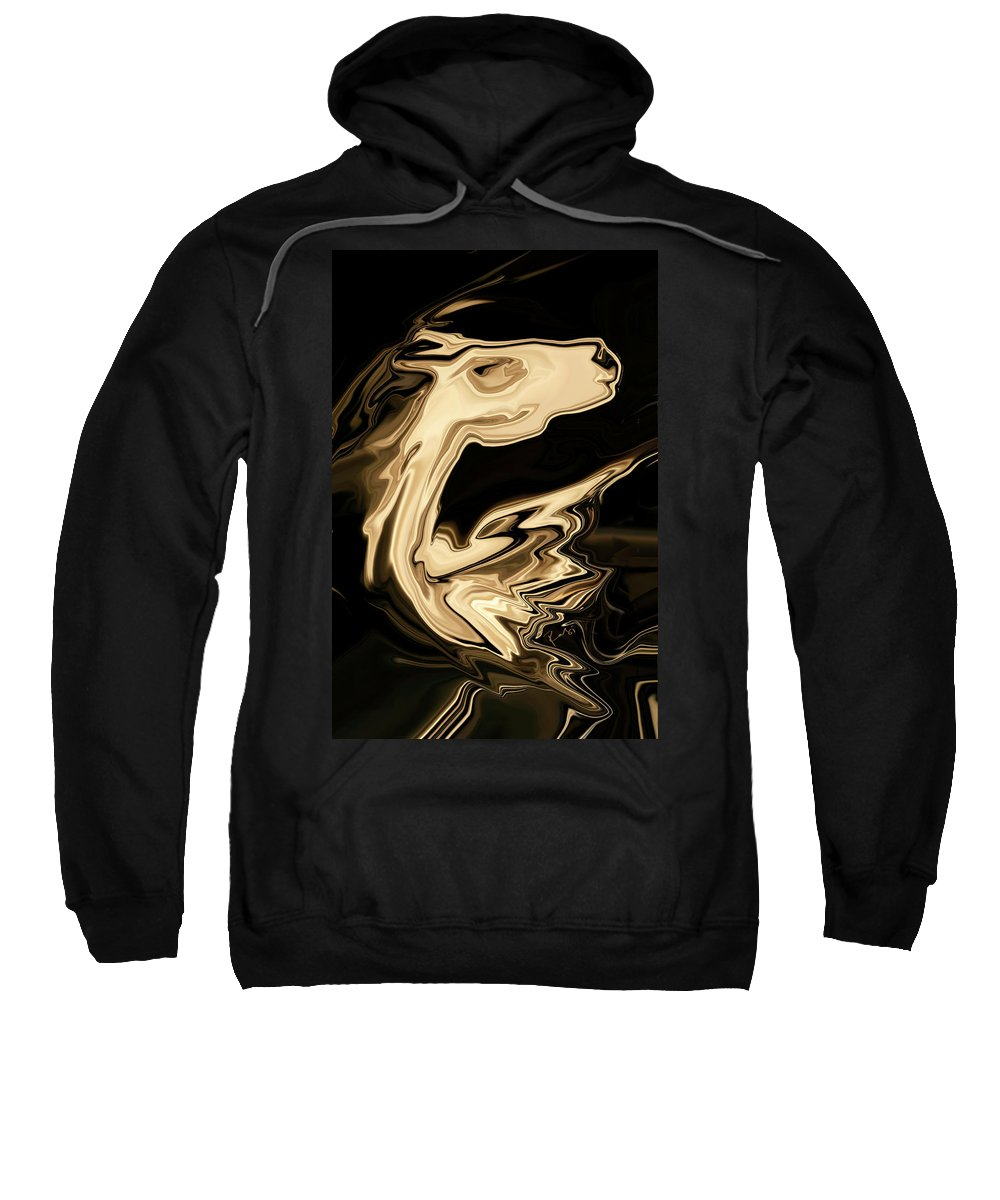 Art Sweatshirt featuring the digital art The Young Pegasus by Rabi Khan