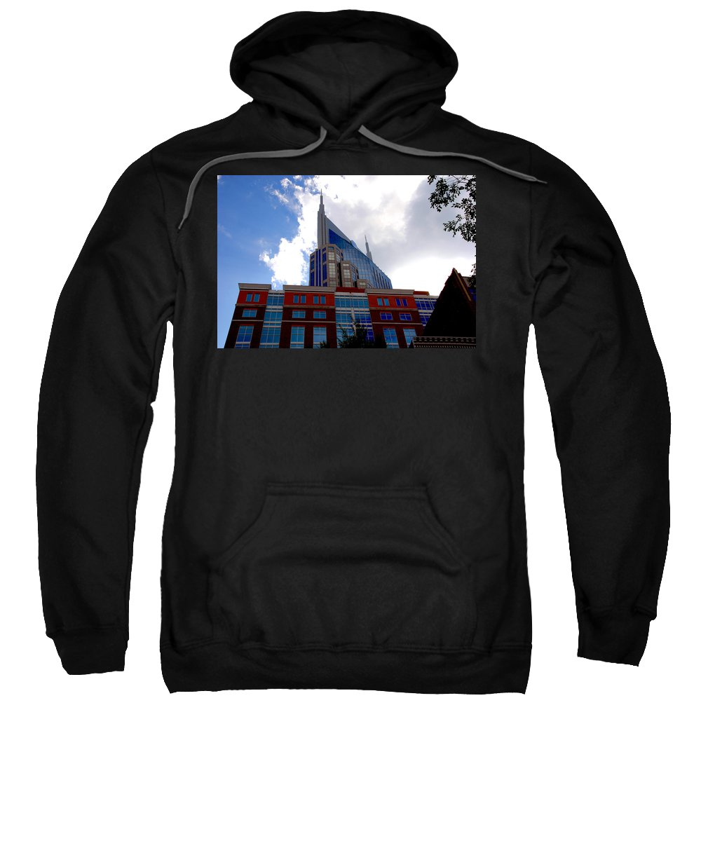 Nashville Sweatshirt featuring the photograph There Where Modern And Old Architecture Meet by Susanne Van Hulst