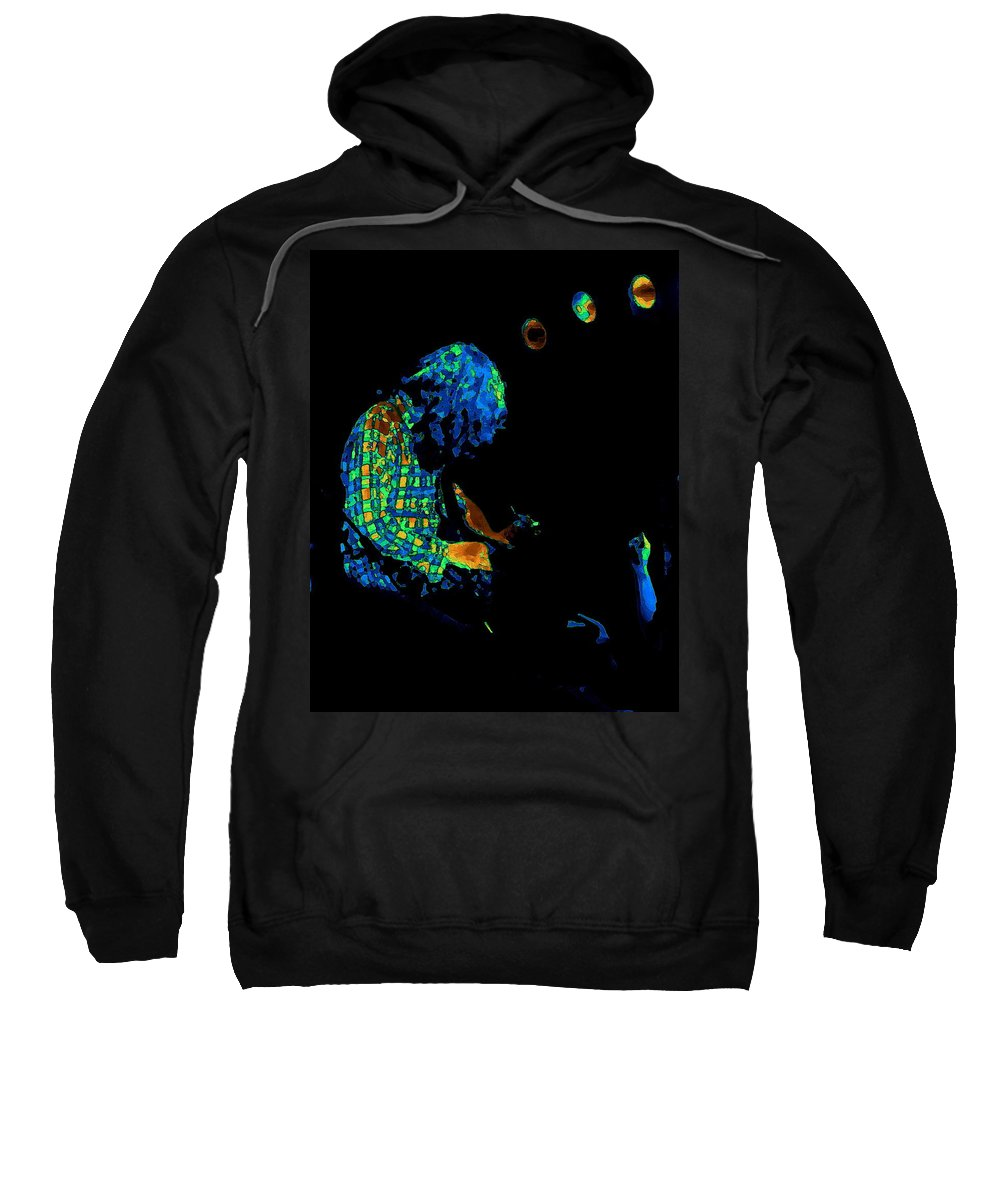 Rock Musicians Sweatshirt featuring the photograph There's A Cosmic Light 2 by Ben Upham