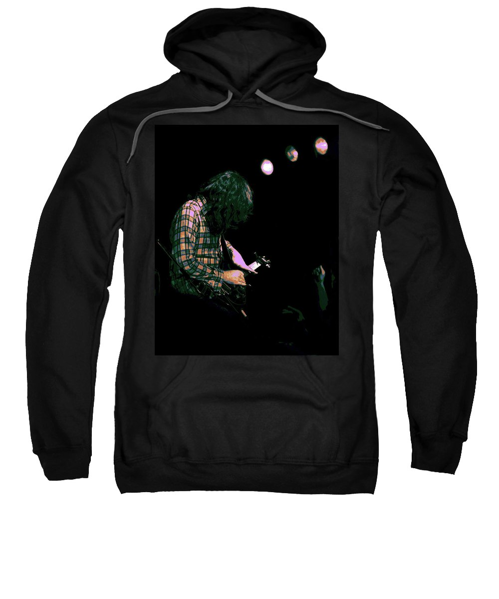 Rock Musicians Sweatshirt featuring the photograph There's A Light 2 by Ben Upham