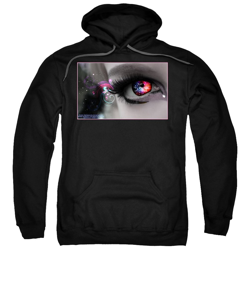 Digital Art Sweatshirt featuring the digital art There's Magick In The Eyes by Kristi Rinier