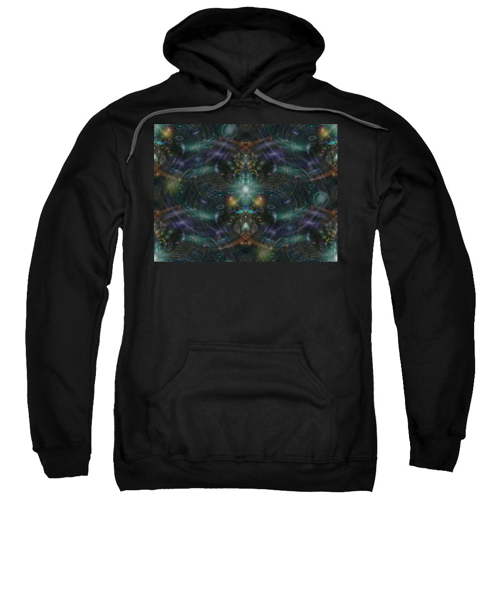 Abstract Sweatshirt featuring the digital art They Are Watching by Tim Allen