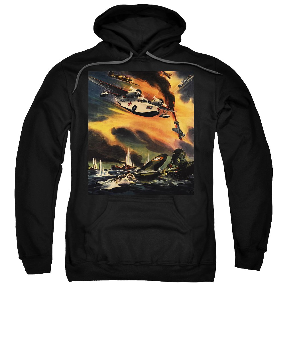 Raf Sweatshirt featuring the painting They They May Live To Fight Again by The Baltimore and Ohio Railroad