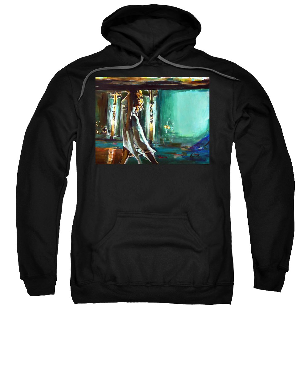 Ed Sheeran Sweatshirt featuring the painting Thinking Out Loud by Lucia Hoogervorst