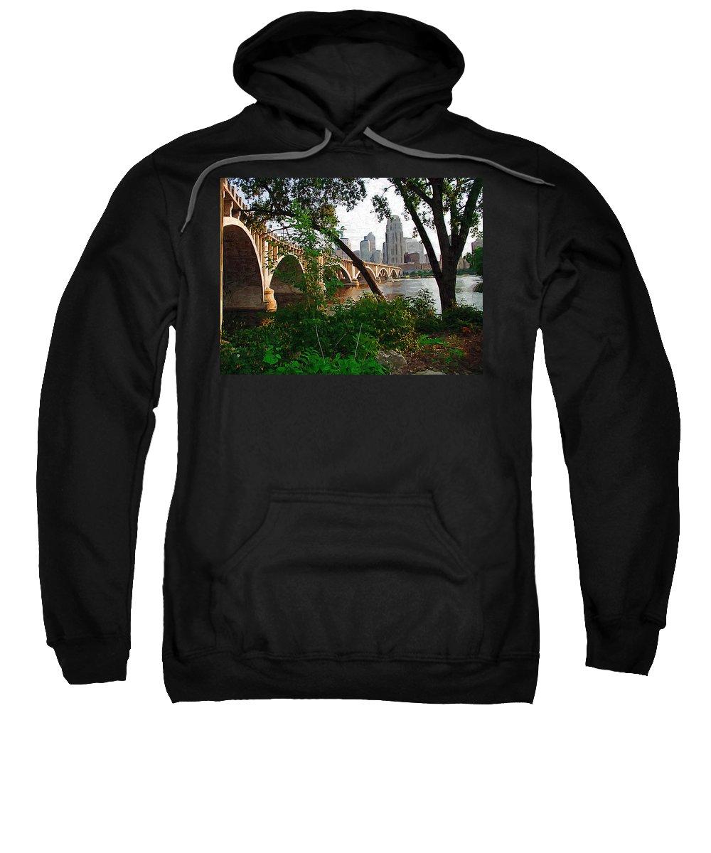 Minneapolis Sweatshirt featuring the photograph Third Avenue Bridge by Tom Reynen
