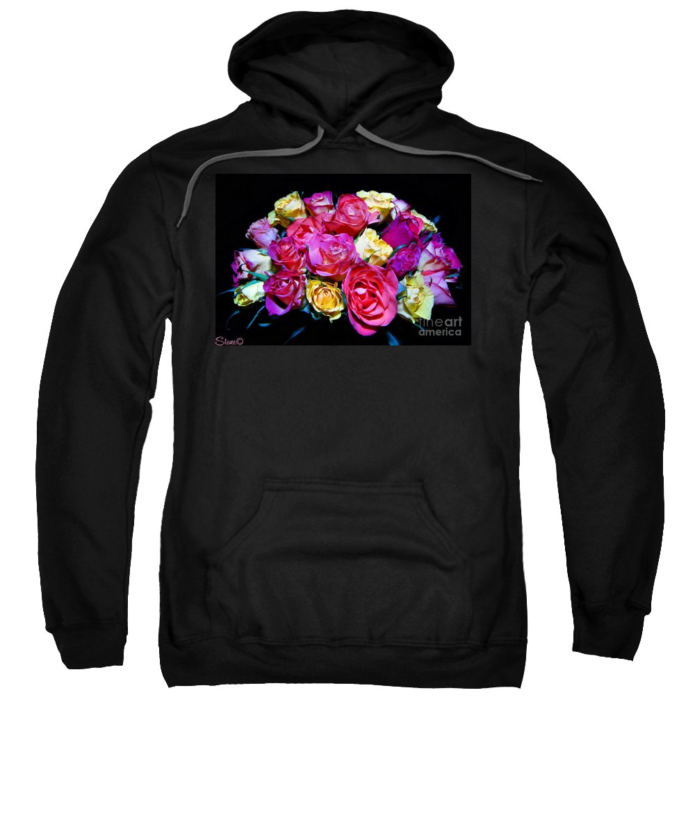 Roses Sweatshirt featuring the photograph Thirty Six 2 by September Stone