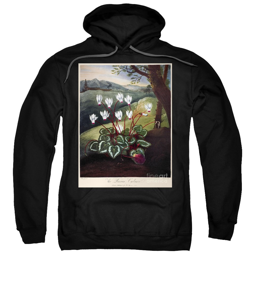 1804 Sweatshirt featuring the photograph Thornton: Cyclamen by Granger