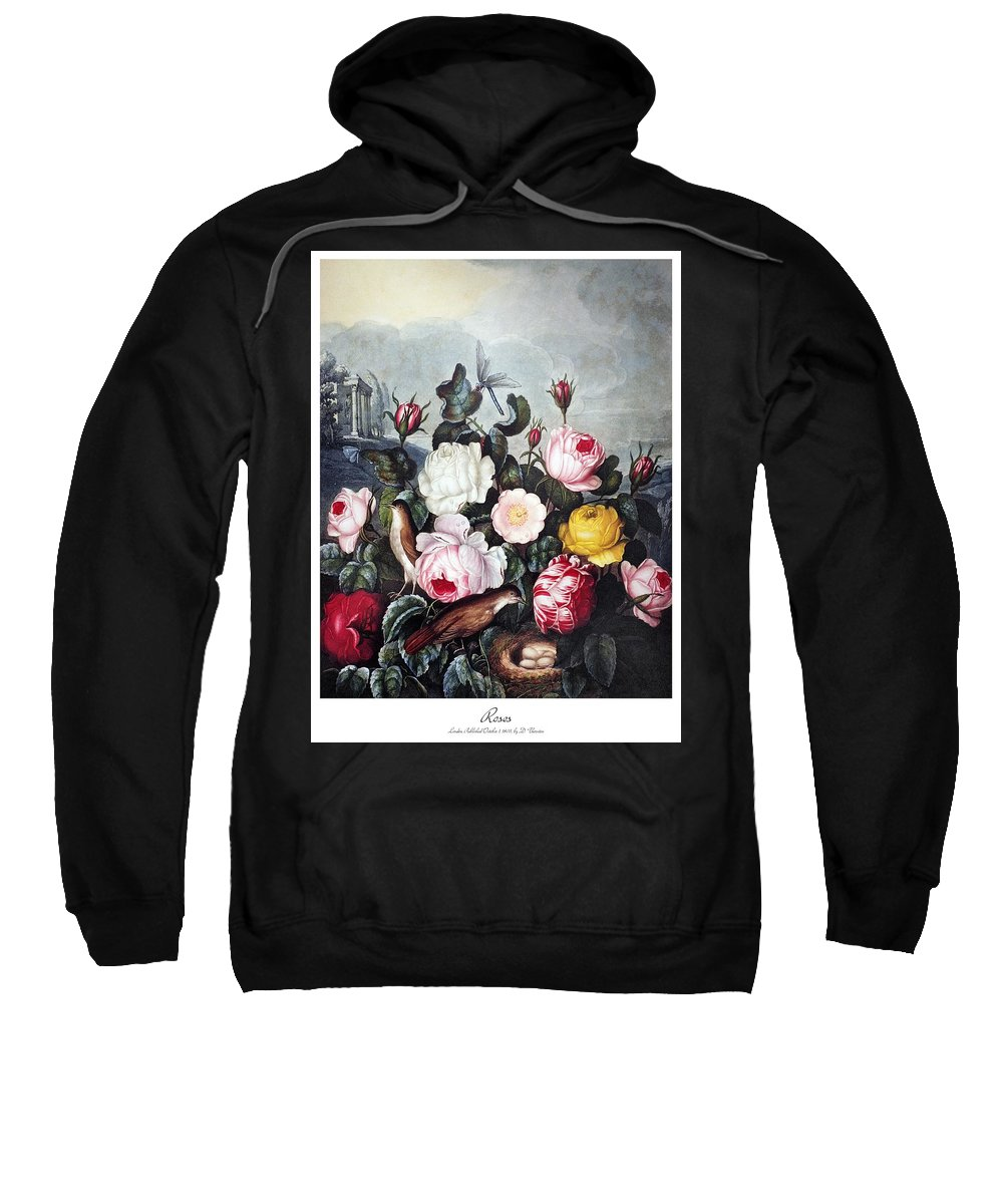 1805 Sweatshirt featuring the photograph Thornton: Roses by Granger