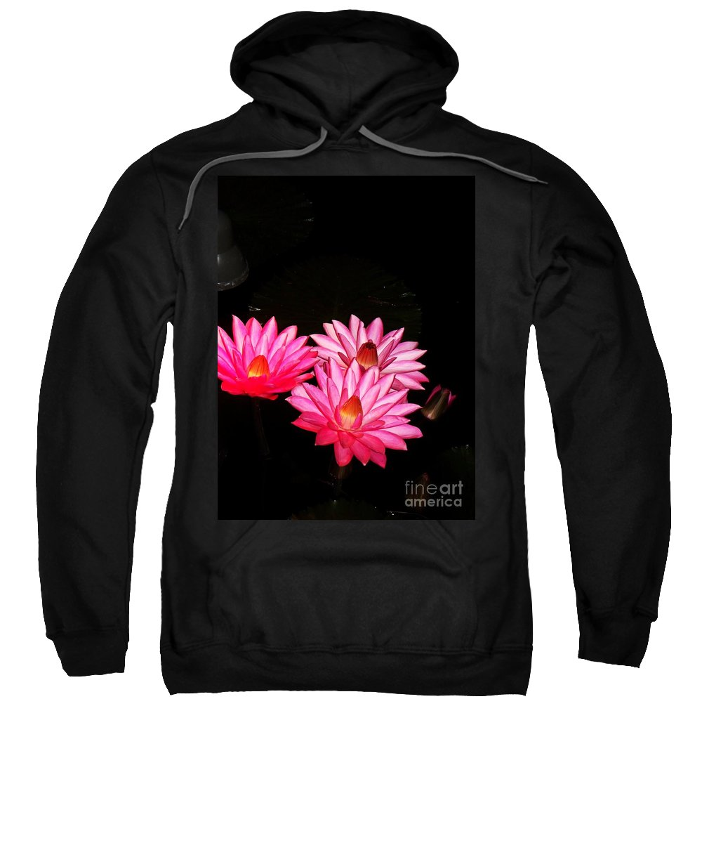 Photograph Sweatshirt featuring the photograph Three Night Lilies by Eric Schiabor