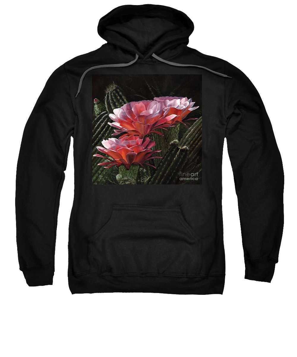 Art Sweatshirt featuring the painting Three Sisters by Mary Rogers