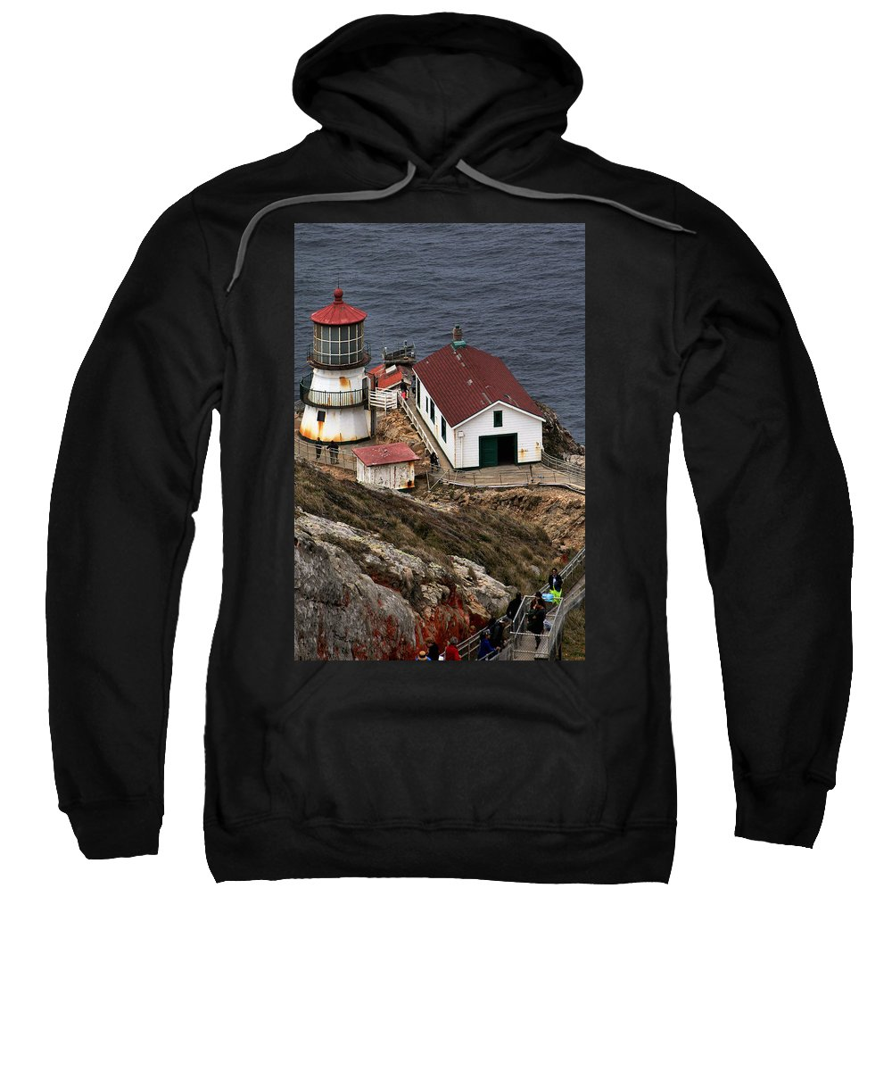 Point Reyes Lighthouse Sweatshirt featuring the photograph Three Story Climb by Michael Gordon