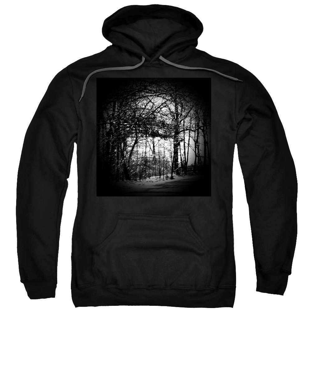 Trees Sweatshirt featuring the photograph Through The Lens- Black And White by Charleen Treasures
