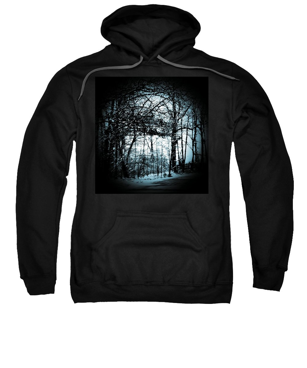 Trees Sweatshirt featuring the photograph Through The Lens-blue by Charleen Treasures