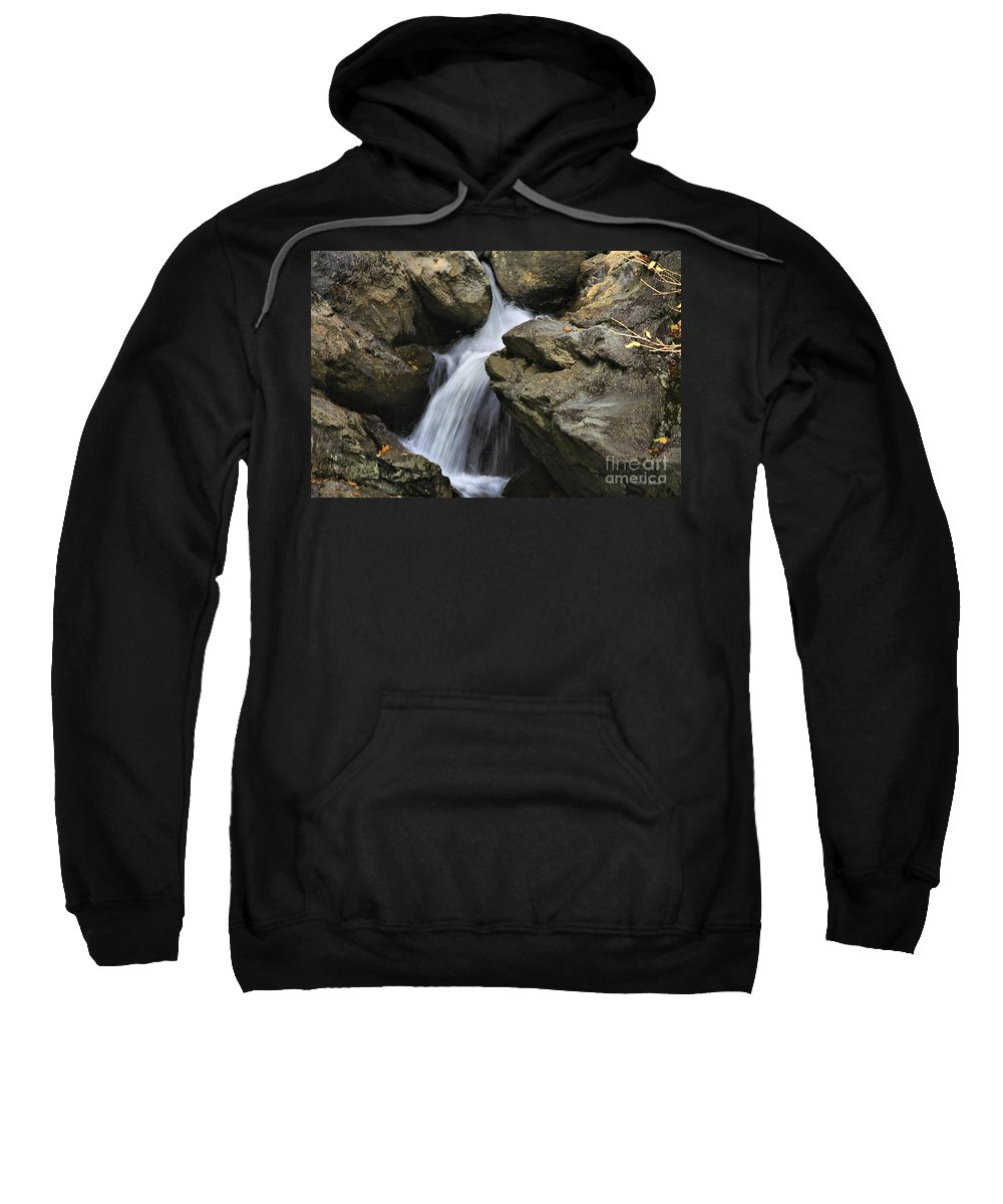 Water Sweatshirt featuring the photograph Through The Rocks by Deborah Benoit