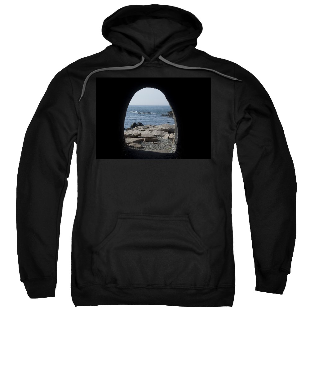Tunnel Sweatshirt featuring the photograph Through The Tunnel by Steven Natanson