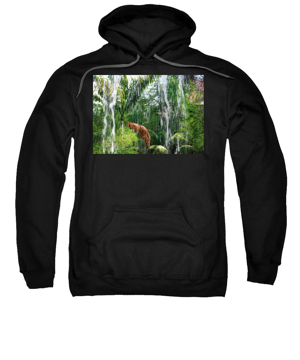 Waterfall Sweatshirt featuring the photograph Through The Waterfall by Alison Frank