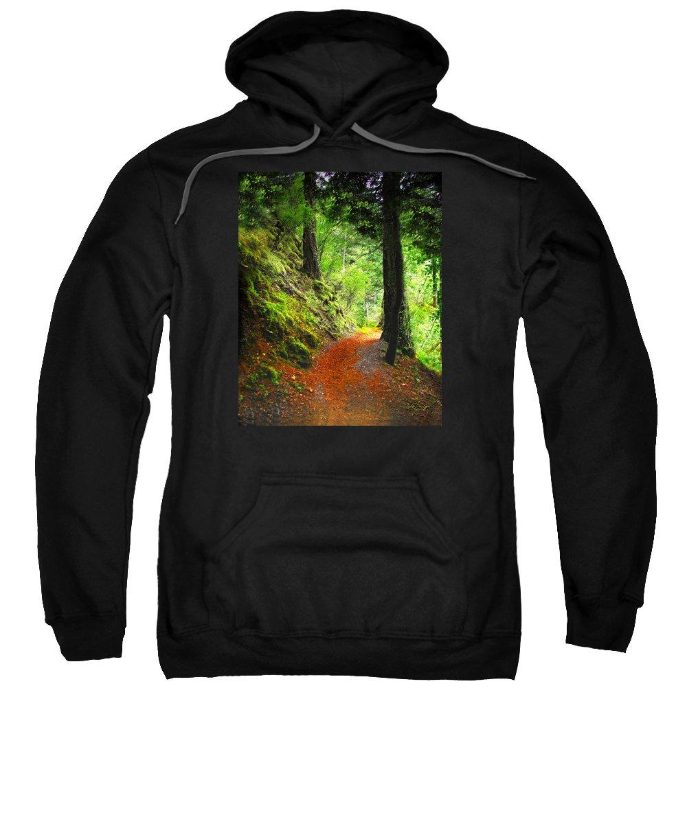 Path Sweatshirt featuring the digital art Through The Woods by Vicki Lea Eggen