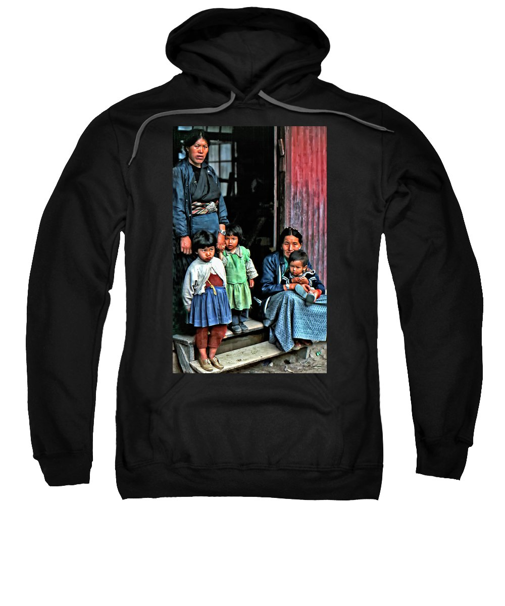 Darjeeling Sweatshirt featuring the photograph Tibetan Refugees by Steve Harrington