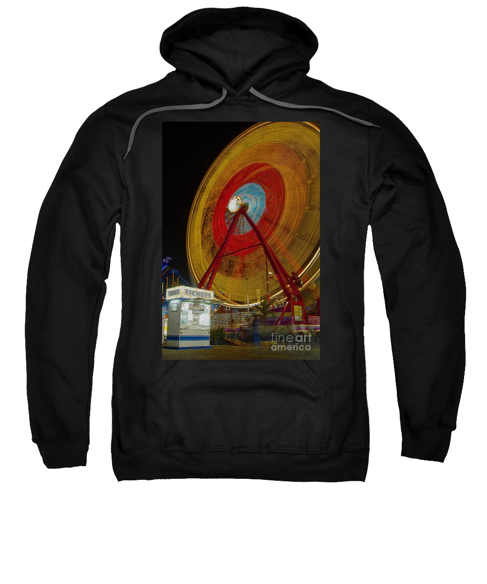 Amusement Ride Sweatshirt featuring the photograph Tickets by David Lee Thompson