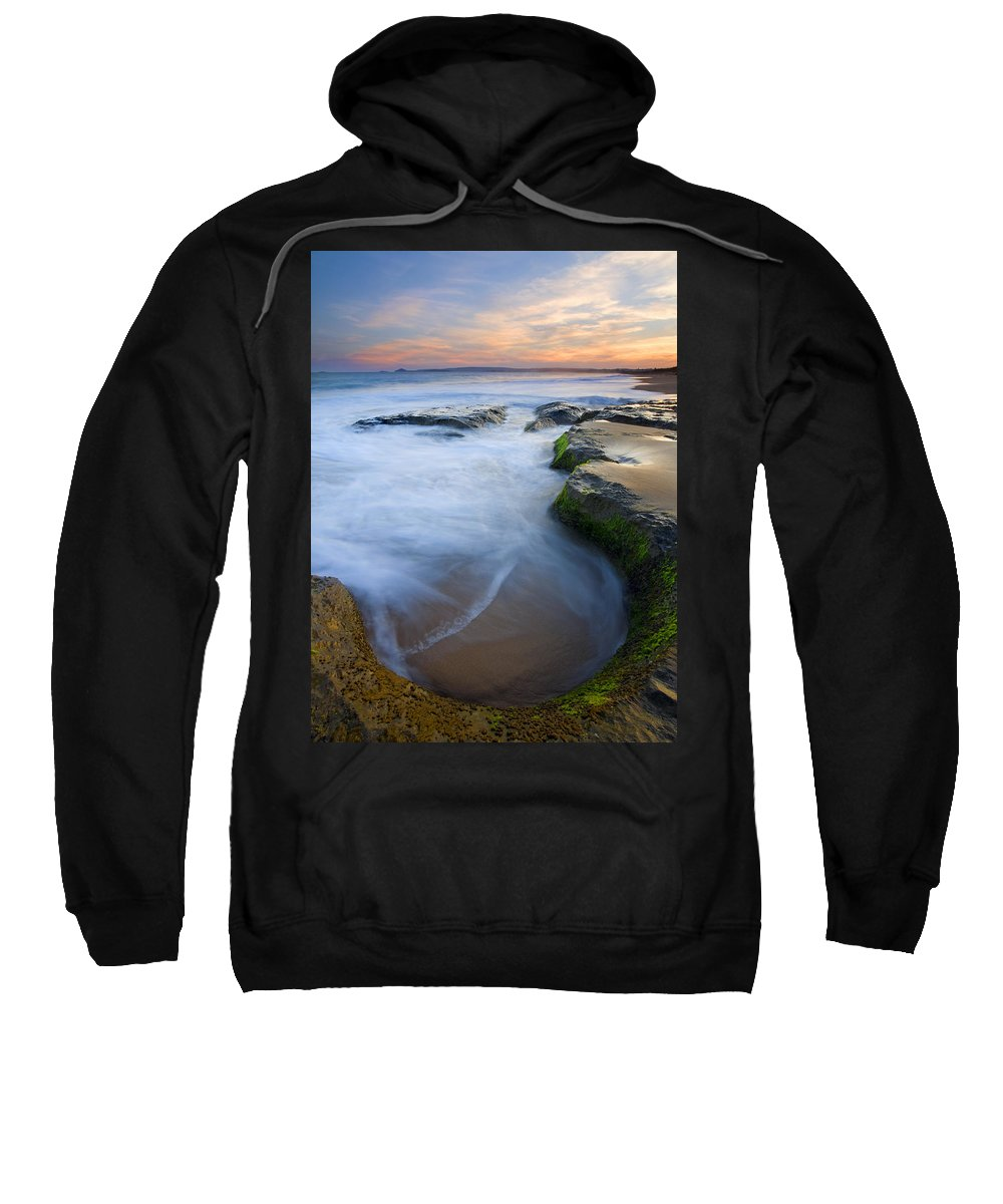 Beach Sweatshirt featuring the photograph Tidal Bowl by Mike Dawson