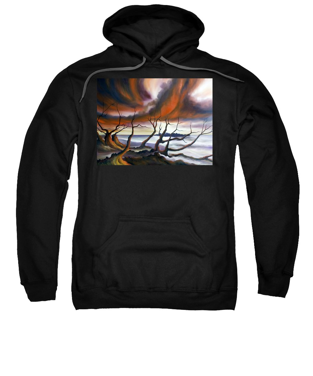 Marsh Sweatshirt featuring the painting Tideland by James Christopher Hill