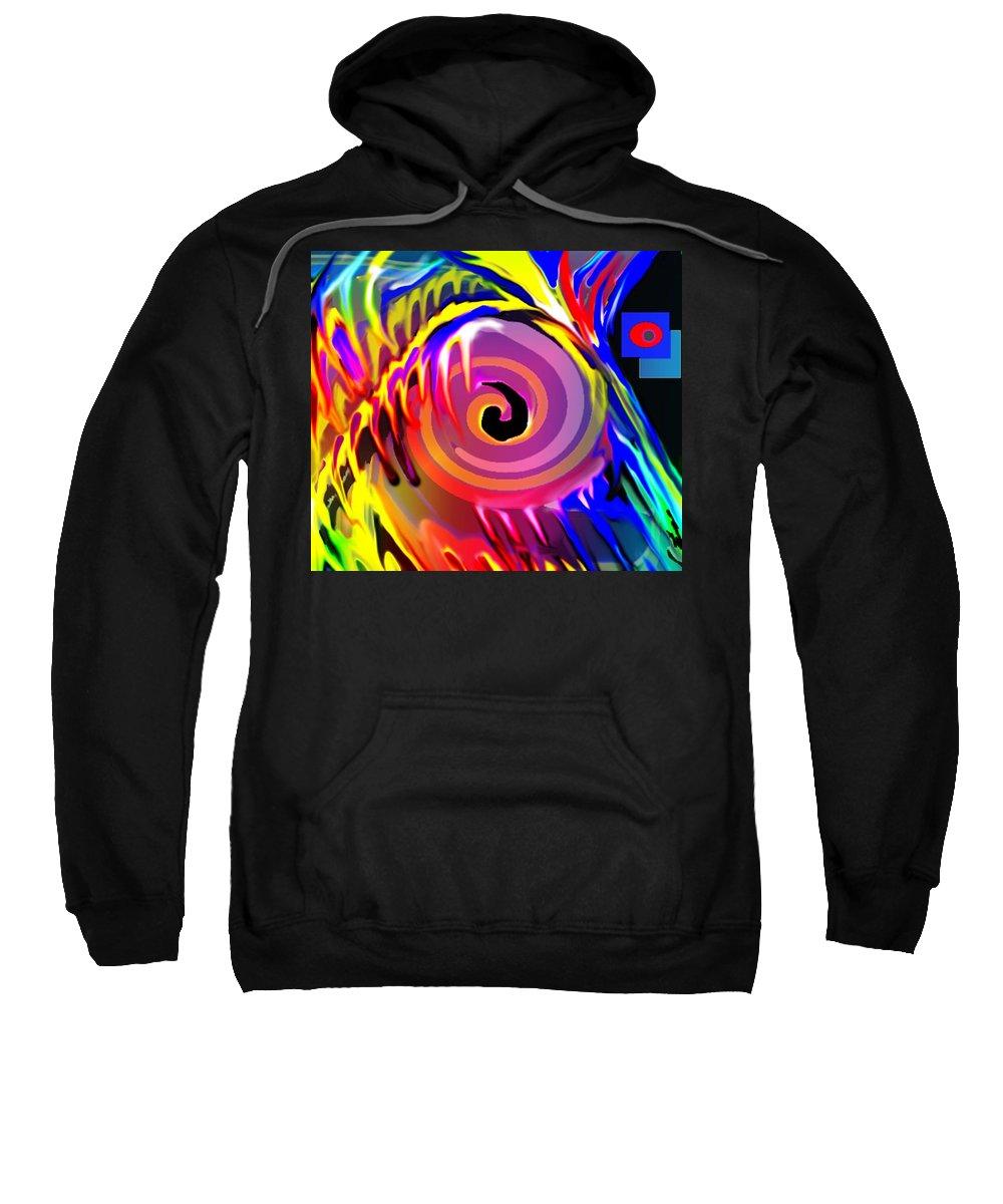 Abstract Sweatshirt featuring the digital art Tie Died Dreams by Ian MacDonald