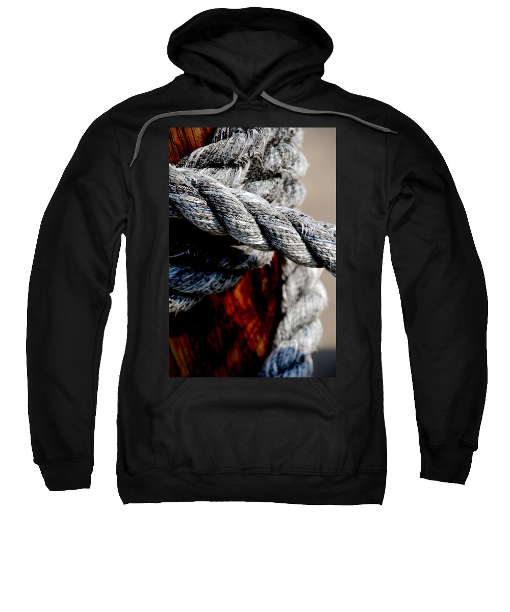 Ropes Sweatshirt featuring the photograph Tied Together by Susanne Van Hulst