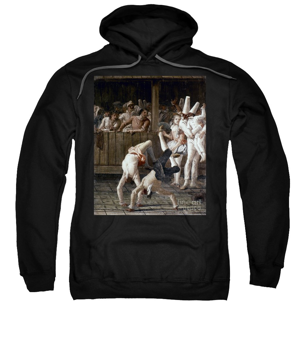 18th Century Sweatshirt featuring the photograph Tiepolo: Acrobats, 18th C by Granger