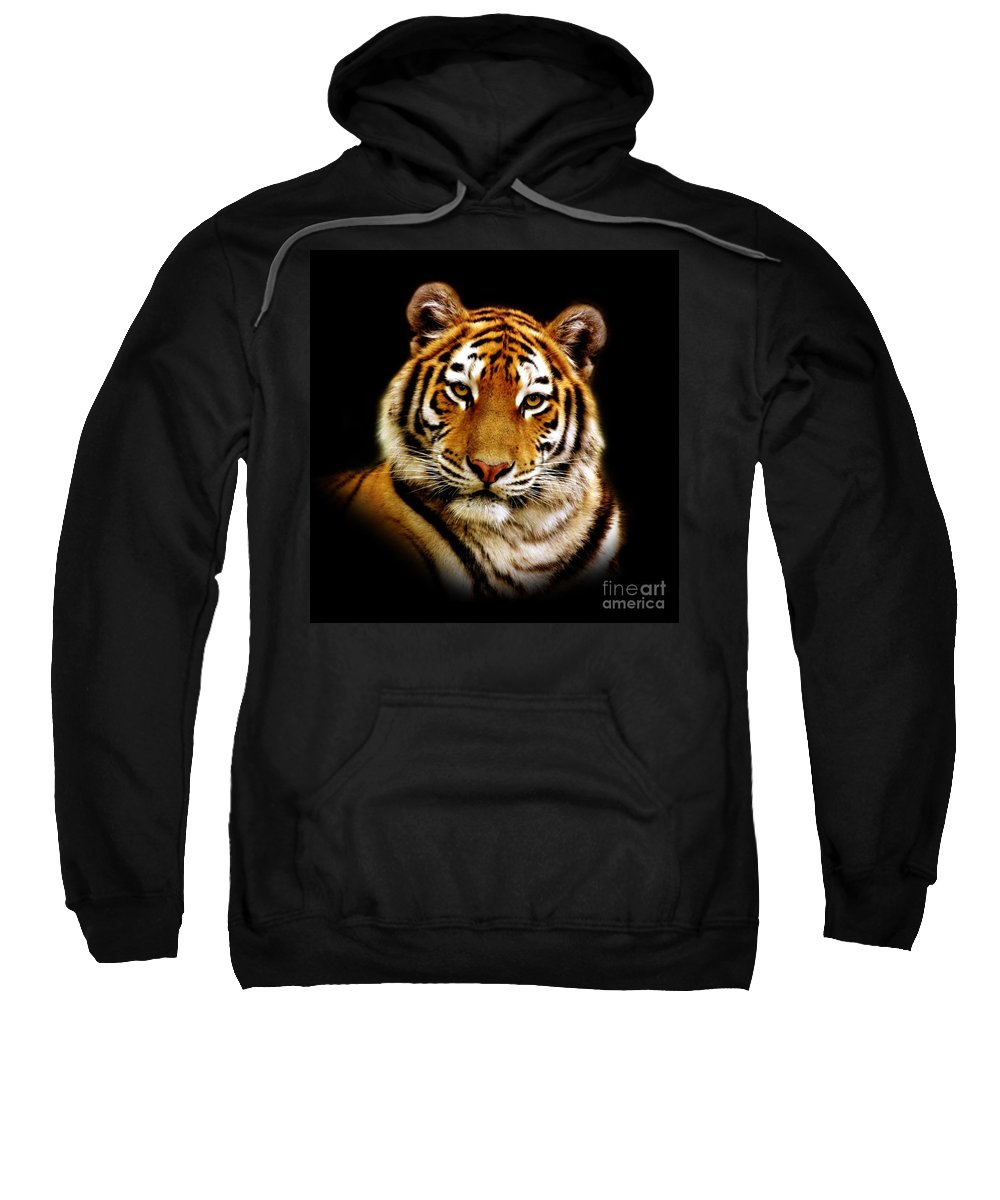 Wildlife Sweatshirt featuring the photograph Tiger by Jacky Gerritsen